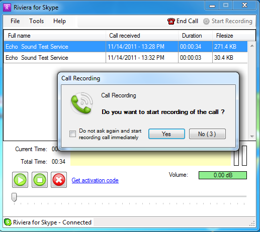 Click to view Riviera for Skype 3.6 screenshot